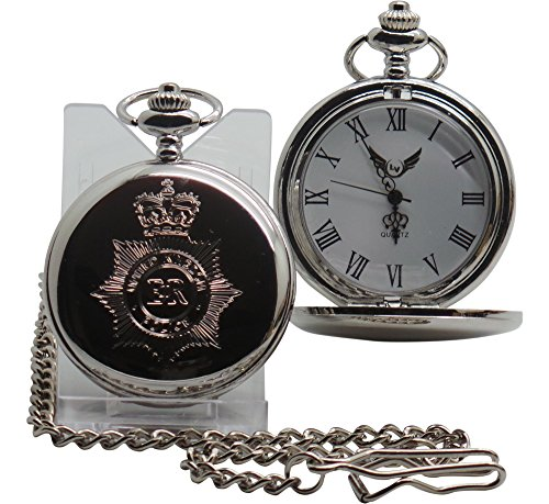 UK Police CRESTED Silber Taschenuhr British Police Force