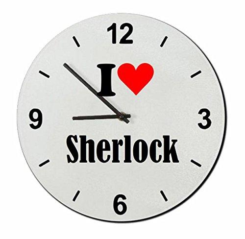 "Exklusive Geschenkidee: Glasuhr ""I Love Sherlock"""