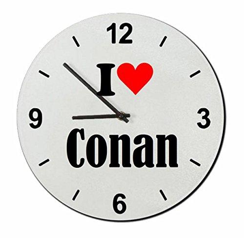 "Exklusive Geschenkidee: Glasuhr ""I Love Conan"""