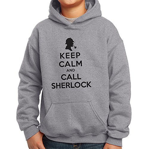 Nutees Keep Calm And Call Sherlock Holmes Unisex Kinder Kapuzenpullover