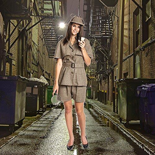 Kostümplanet® Detektiv Kostüm Damen mit Detektiv-Mütze sexy Detektivkostüm Damenkostüm Dedektiv Größe 36/38 - 5
