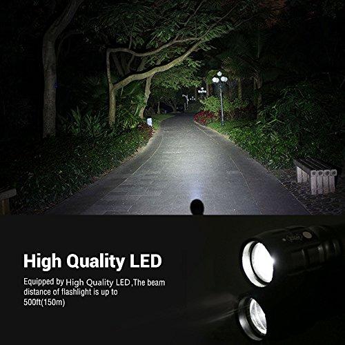 LE Zoombar Superhelle CREE LED Taschenlampe, inklusive 3 AAA Batterie, LED Handlampe, LED Camping Handlampe, Mit einstellbarem Fokus - 6