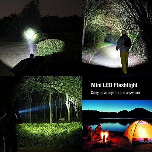LE Zoombar Superhelle CREE LED Taschenlampe, inklusive 3 AAA Batterie, LED Handlampe, LED Camping Handlampe, Mit einstellbarem Fokus - 7