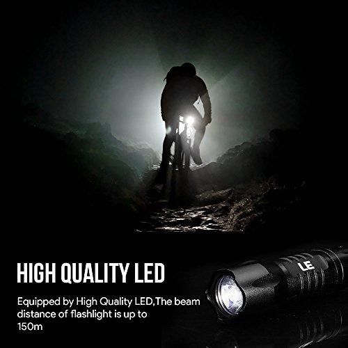 LE 2er Set Superhelle LED Taschenlampe, 14 LED, inklusive 6 AAA-Batterien, Camping Handlampe - 6