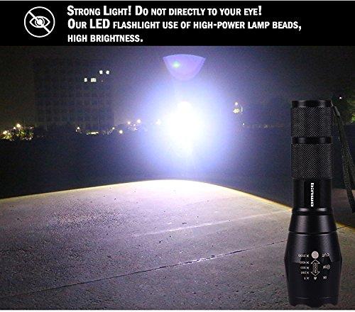 Binwo Superhelle 2000 LM Wiederaufladbaren Handheld LED Taschenlampe (Akku und Ladegerät im Lieferumfang enthalten) - 5