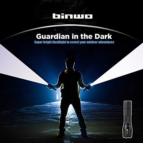 Binwo Superhelle 2000 LM Wiederaufladbaren Handheld LED Taschenlampe (Akku und Ladegerät im Lieferumfang enthalten) - 7