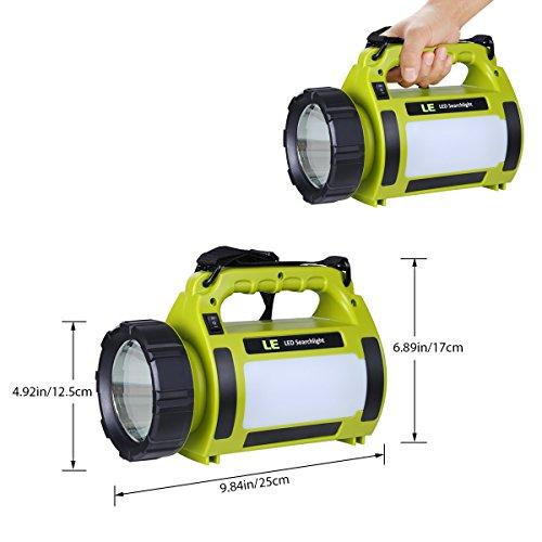 LE 1000lm LED Handscheinwerfer wiederaufladbare Akkulampe dimmbar 10W 3 Lichtmodi 2 Helligkeitsstufen 3600mah Powerbank Handlampe USB-Kabel inkl. IPX4 Wasserdicht Strahler Arbeitsleuchte ideal für Camping Outdoor - 2