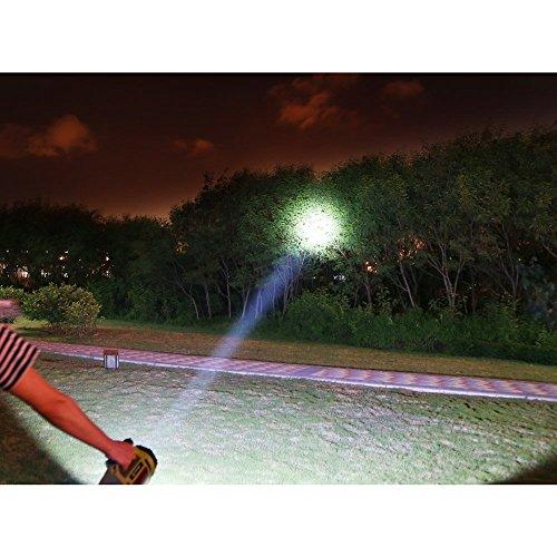 LE 1000lm LED Handscheinwerfer wiederaufladbare Akkulampe dimmbar 10W 3 Lichtmodi 2 Helligkeitsstufen 3600mah Powerbank Handlampe USB-Kabel inkl. IPX4 Wasserdicht Strahler Arbeitsleuchte ideal für Camping Outdoor - 8