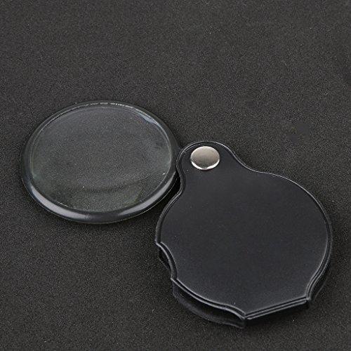 3x - 5x Mini Tasche Lupe w / PU Leder Deckung Gehause - 4