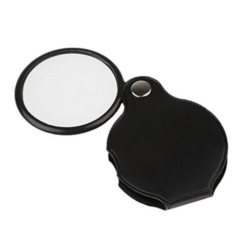 3x - 5x Mini Tasche Lupe w / PU Leder Deckung Gehause - 5