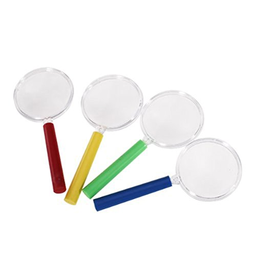 NUOLUX 4 Stück Kinder Lupe Spielzeug Vergrößerungsglas Kunststoff Set - 6