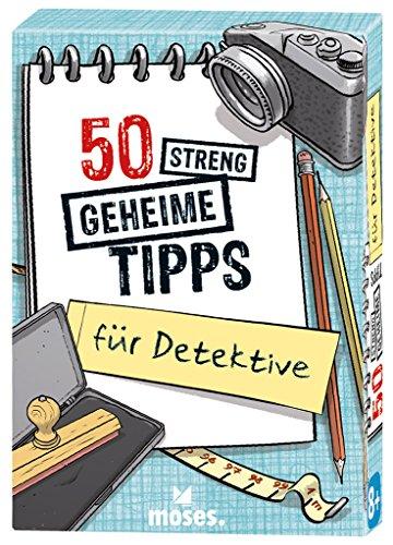 50 streng geheime Tipps für Detektive | Kartenset