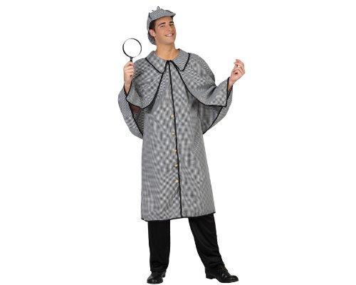Atosa 22921 - Detektiv Kostüm, Größe M-L, schwarz/weiß
