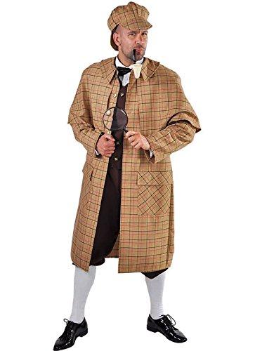 Sherlock Detektiv Kostüm S-XXL (S)