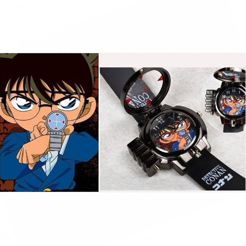 Anime Cosplay Detective Conan Laser LED Uhr