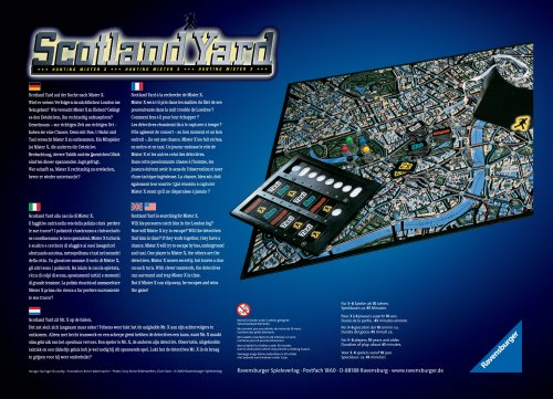 Scotland Yard Spiel Des Jahres 1983 Spielanleitung