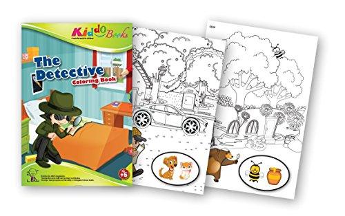 QuackDuck Malbuch The Detective - Coloring booklet - Malbuch mit farbigen Motiven