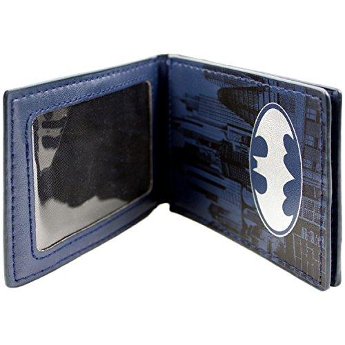 DC Comics Batman Gotham City Detective Abzeichen Blau Portemonnaie Geldbörse - 2