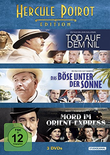 Hercule Poirot Edition:Tod auf dem Nil / Das Böse unter der Sonne / Mord im Orient Express [3 DVDs]