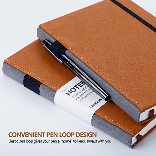 Dotted Bullet Journal / Notizbuch - Lemome A5 Hardcover Dot Grid Notizbuch mit Stiftschleife - Premium Dickes Papier - Page Dividers Geschenke, 180 Seiten, 8.4 x 5.7 inch - 2
