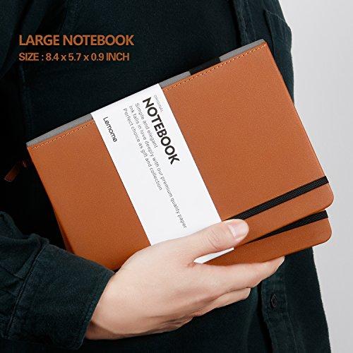 Dotted Bullet Journal / Notizbuch - Lemome A5 Hardcover Dot Grid Notizbuch mit Stiftschleife - Premium Dickes Papier - Page Dividers Geschenke, 180 Seiten, 8.4 x 5.7 inch - 6