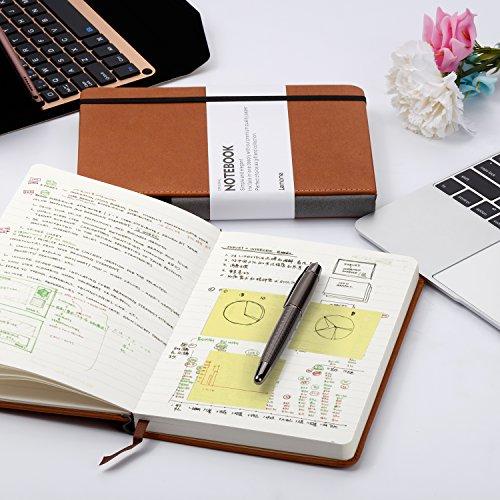 Dotted Bullet Journal / Notizbuch - Lemome A5 Hardcover Dot Grid Notizbuch mit Stiftschleife - Premium Dickes Papier - Page Dividers Geschenke, 180 Seiten, 8.4 x 5.7 inch - 7