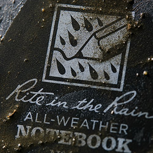 Rite in the Rain Notizblock, wasserdicht, Schwarz, 7,6 x 12,7 cm - 2