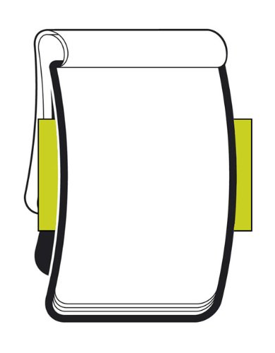 Moleskine Reporter-Notizblock Pocket, Softcover, blanko, schwarz - 3