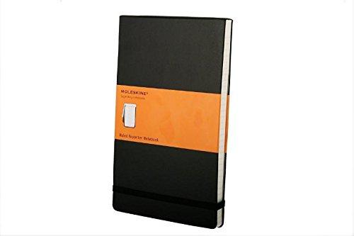 Moleskine Reporter-Notizblock Large, Hardcover, liniert, schwarz