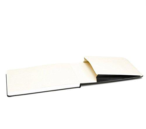 Moleskine Reporter-Notizblock Large, Hardcover, liniert, schwarz - 6