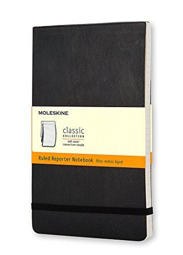 Moleskine Reporter-Notizblock Large, Softcover, liniert, schwarz