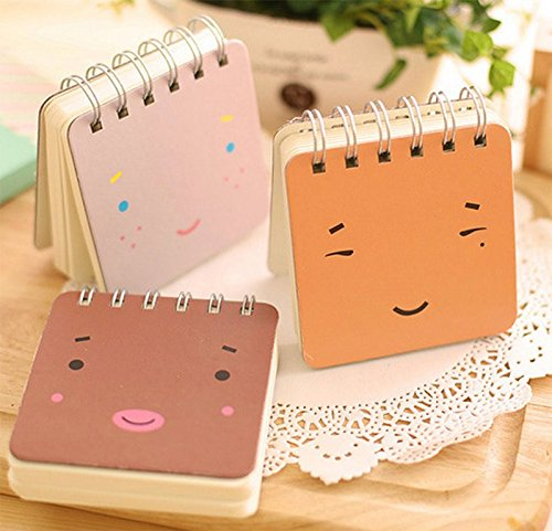 wicemoon Cartoon Notebook tragbar Notizblock Creative Spirale Reporter Book Süßer kleiner PocketBook Memo Book 3 in 1 Set - 2