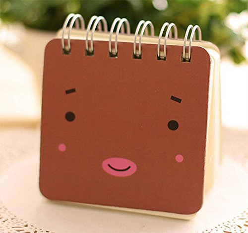 wicemoon Cartoon Notebook tragbar Notizblock Creative Spirale Reporter Book Süßer kleiner PocketBook Memo Book 3 in 1 Set - 4