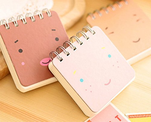 wicemoon Cartoon Notebook tragbar Notizblock Creative Spirale Reporter Book Süßer kleiner PocketBook Memo Book 3 in 1 Set - 7