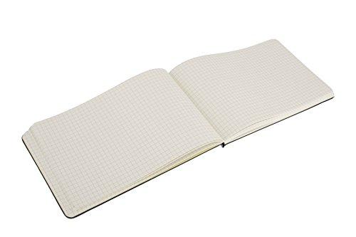 Moleskine Reporter-Notizblock Large, Hardcover, kariert, schwarz - 4